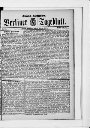Berliner Tageblatt und Handels-Zeitung vom 23.02.1884