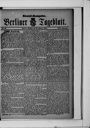 Berliner Tageblatt und Handels-Zeitung vom 26.02.1884