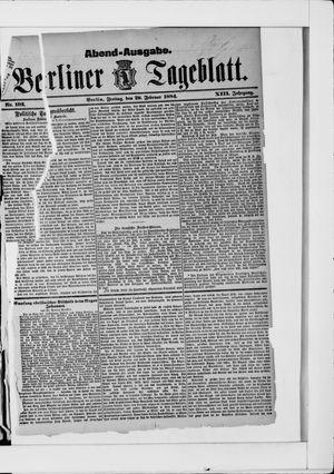 Berliner Tageblatt und Handels-Zeitung vom 29.02.1884