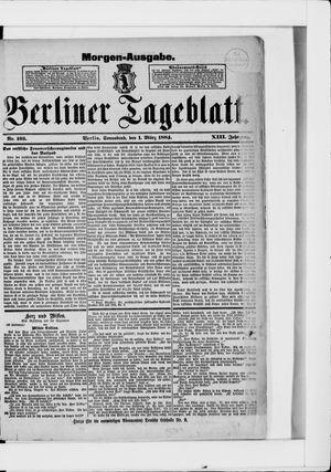 Berliner Tageblatt und Handels-Zeitung vom 01.03.1884