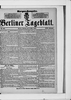 Berliner Tageblatt und Handels-Zeitung vom 02.03.1884