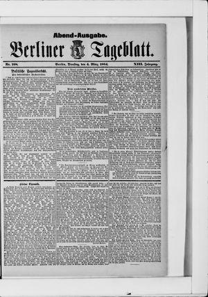 Berliner Tageblatt und Handels-Zeitung vom 04.03.1884