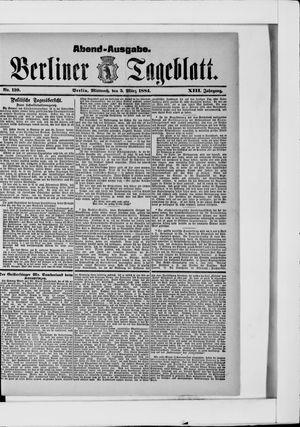 Berliner Tageblatt und Handels-Zeitung vom 05.03.1884