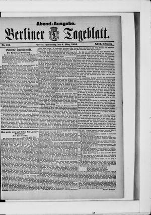 Berliner Tageblatt und Handels-Zeitung vom 06.03.1884