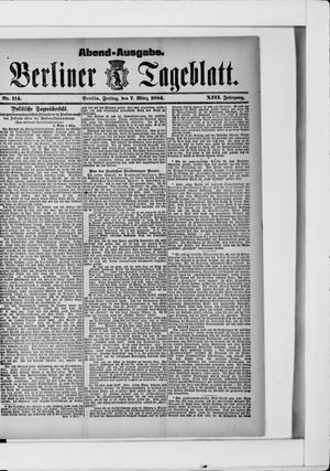Berliner Tageblatt und Handels-Zeitung vom 07.03.1884