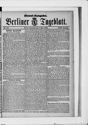 Berliner Tageblatt und Handels-Zeitung vom 08.03.1884