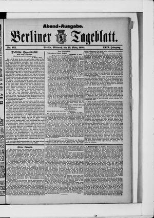 Berliner Tageblatt und Handels-Zeitung vom 12.03.1884
