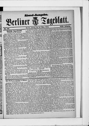 Berliner Tageblatt und Handels-Zeitung vom 14.03.1884
