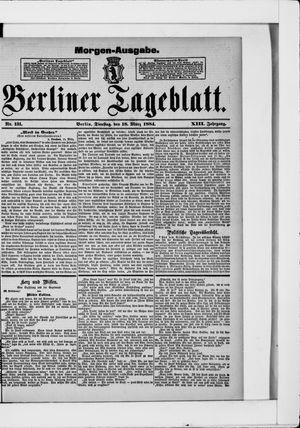 Berliner Tageblatt und Handels-Zeitung vom 18.03.1884