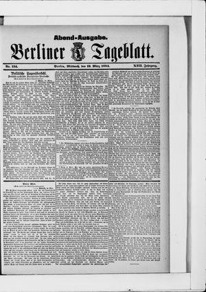 Berliner Tageblatt und Handels-Zeitung vom 19.03.1884