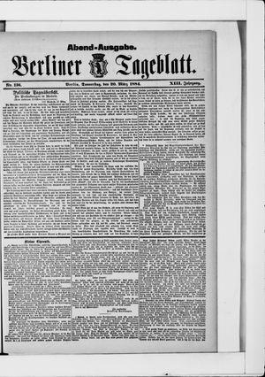 Berliner Tageblatt und Handels-Zeitung vom 20.03.1884