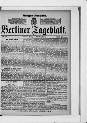 Berliner Tageblatt und Handels-Zeitung vom 21.03.1884