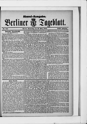 Berliner Tageblatt und Handels-Zeitung vom 27.03.1884