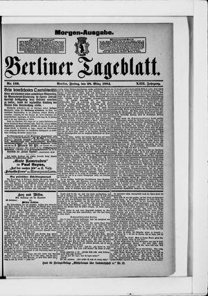 Berliner Tageblatt und Handels-Zeitung vom 28.03.1884