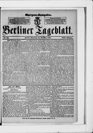 Berliner Tageblatt und Handels-Zeitung vom 29.03.1884