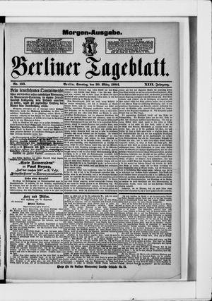 Berliner Tageblatt und Handels-Zeitung vom 30.03.1884