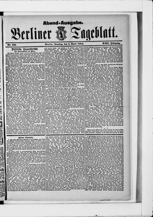 Berliner Tageblatt und Handels-Zeitung vom 01.04.1884