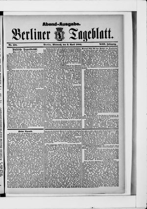 Berliner Tageblatt und Handels-Zeitung vom 02.04.1884