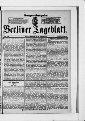 Berliner Tageblatt und Handels-Zeitung vom 06.04.1884