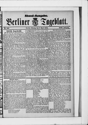 Berliner Tageblatt und Handels-Zeitung vom 07.04.1884