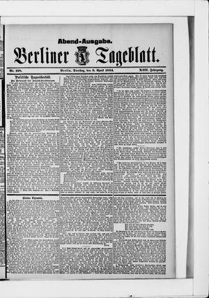 Berliner Tageblatt und Handels-Zeitung vom 08.04.1884