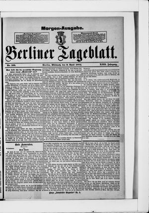 Berliner Tageblatt und Handels-Zeitung vom 09.04.1884