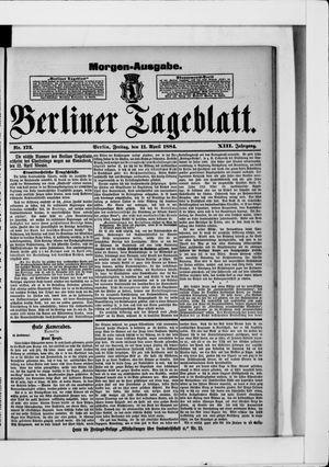 Berliner Tageblatt und Handels-Zeitung vom 11.04.1884