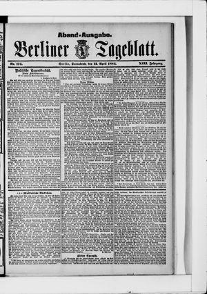 Berliner Tageblatt und Handels-Zeitung vom 12.04.1884