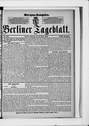 Berliner Tageblatt und Handels-Zeitung vom 13.04.1884