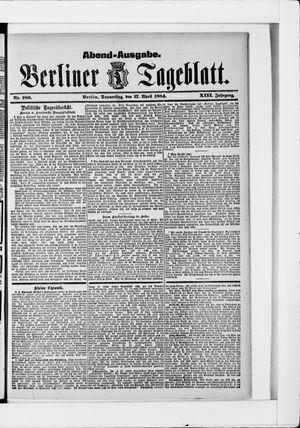 Berliner Tageblatt und Handels-Zeitung vom 17.04.1884
