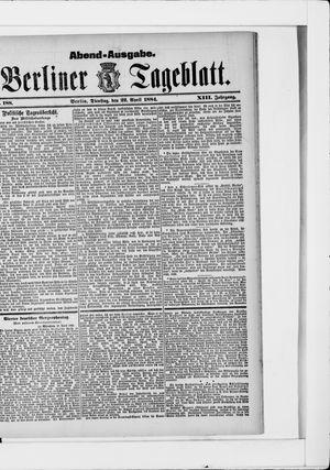 Berliner Tageblatt und Handels-Zeitung vom 22.04.1884