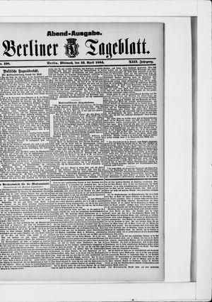 Berliner Tageblatt und Handels-Zeitung vom 23.04.1884
