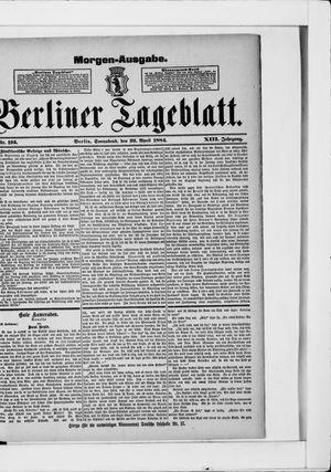 Berliner Tageblatt und Handels-Zeitung vom 26.04.1884