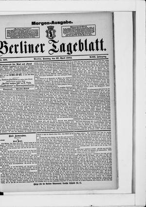 Berliner Tageblatt und Handels-Zeitung vom 27.04.1884