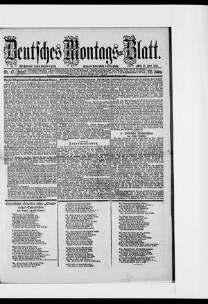 Berliner Tageblatt und Handels-Zeitung vom 28.04.1884