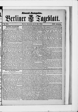 Berliner Tageblatt und Handels-Zeitung vom 03.05.1884