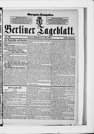 Berliner Tageblatt und Handels-Zeitung vom 07.05.1884
