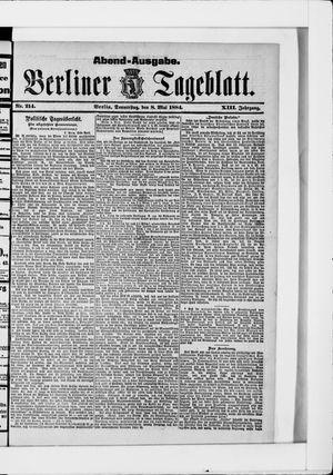 Berliner Tageblatt und Handels-Zeitung vom 08.05.1884