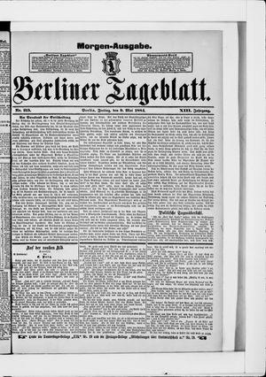 Berliner Tageblatt und Handels-Zeitung vom 09.05.1884