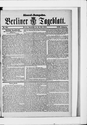 Berliner Tageblatt und Handels-Zeitung vom 10.05.1884