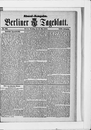Berliner Tageblatt und Handels-Zeitung vom 13.05.1884