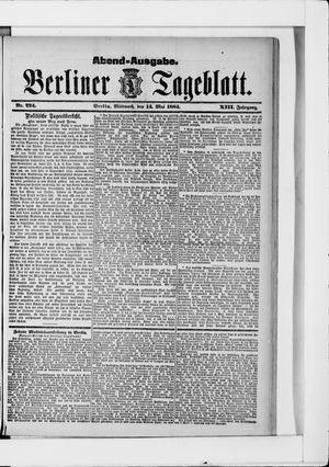 Berliner Tageblatt und Handels-Zeitung vom 14.05.1884