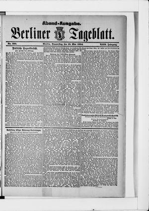 Berliner Tageblatt und Handels-Zeitung vom 15.05.1884
