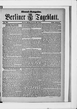 Berliner Tageblatt und Handels-Zeitung vom 16.05.1884