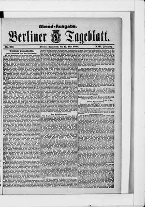 Berliner Tageblatt und Handels-Zeitung vom 17.05.1884