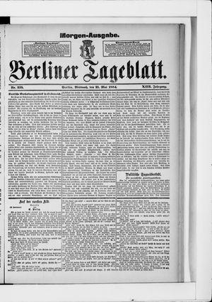 Berliner Tageblatt und Handels-Zeitung vom 21.05.1884
