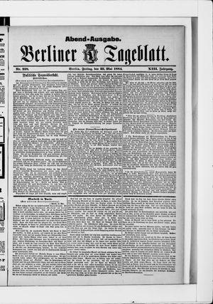 Berliner Tageblatt und Handels-Zeitung vom 23.05.1884