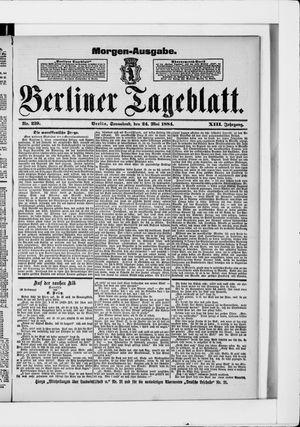Berliner Tageblatt und Handels-Zeitung vom 24.05.1884