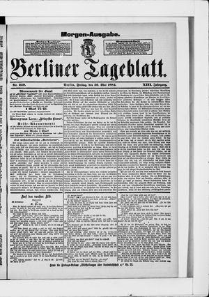 Berliner Tageblatt und Handels-Zeitung vom 30.05.1884