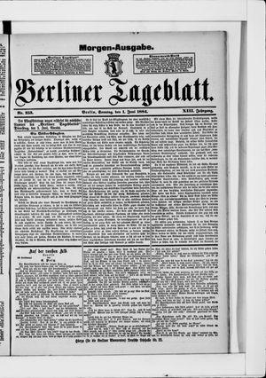 Berliner Tageblatt und Handels-Zeitung vom 01.06.1884